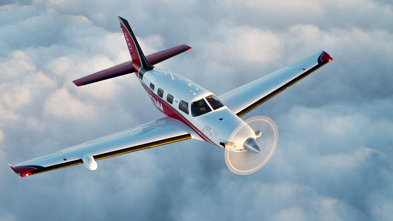 Piper M600 in clouds