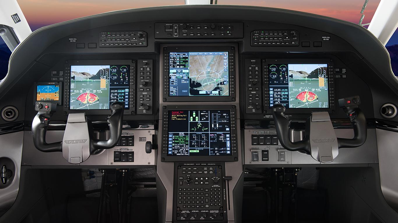 Pilatus PC-12 cockpit