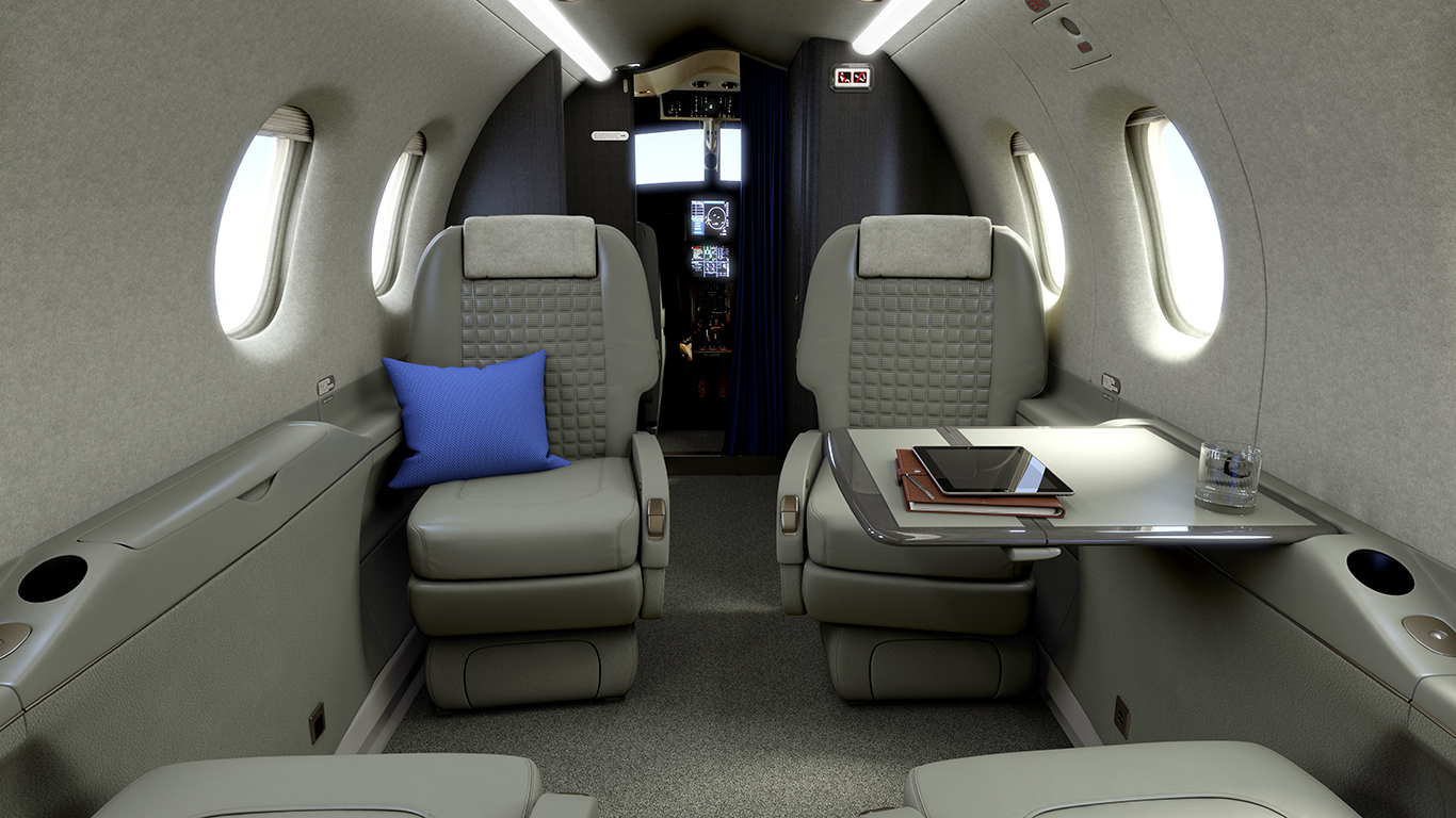 Pilatus PC-12 interior grey