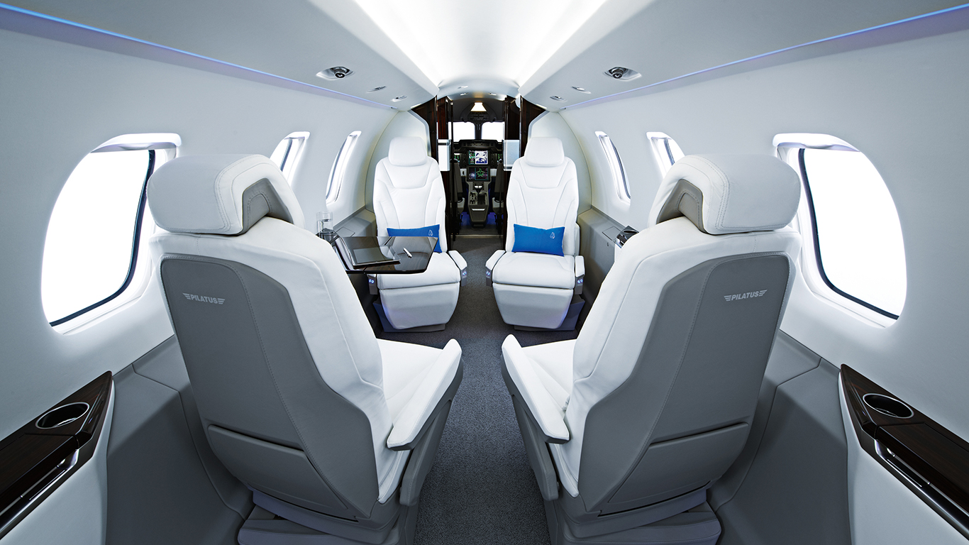 Pilatus PC-24 interior white