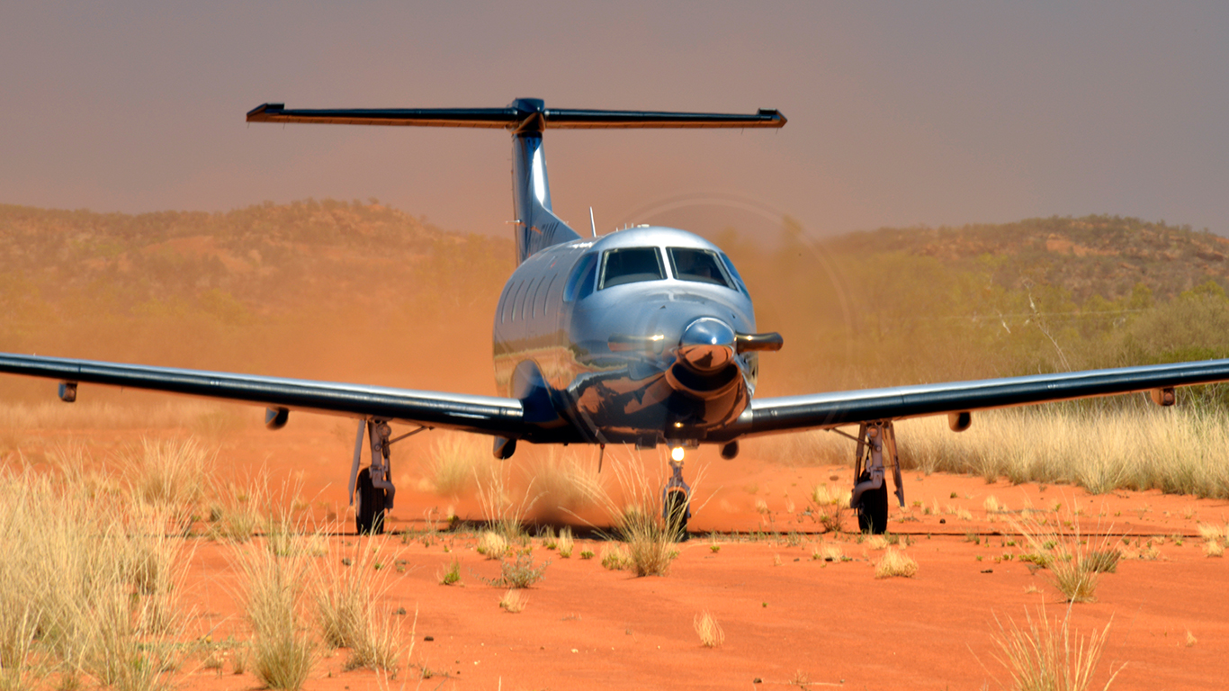 Pilatus PC-12 dirt strip